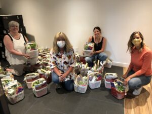 Baskets donated to The Link from Hungerford Properties